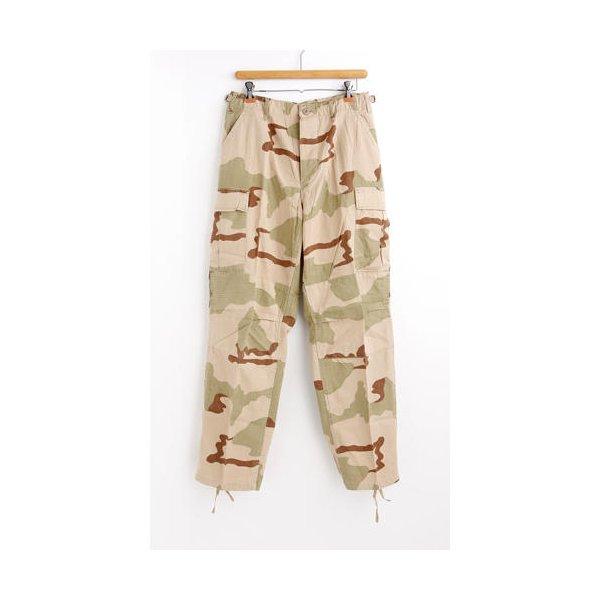 アメリカ軍 BDU カーゴパンツ /迷彩服パンツ  Mサイズ  リップストップ YN521007 3カラーデザート  レプリカ