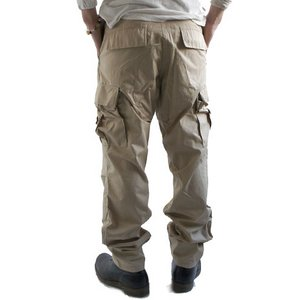 アメリカ軍 BDU カーゴパンツ/迷彩服パンツ 【Mサイズ】 リップストップ YN521007 3カラーデザート 【レプリカ】