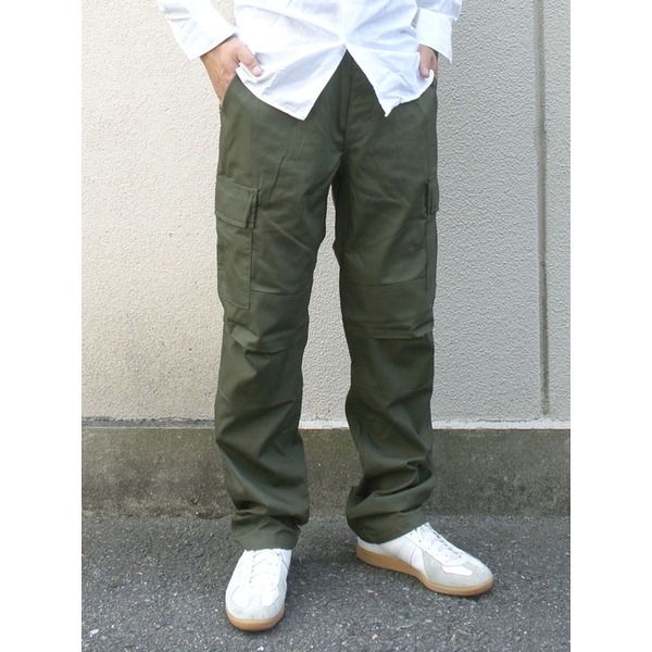 アメリカ軍 BDU カーゴパンツ /迷彩服パンツ  XLサイズ  リップストップ YN521007 オリーブ  レプリカ