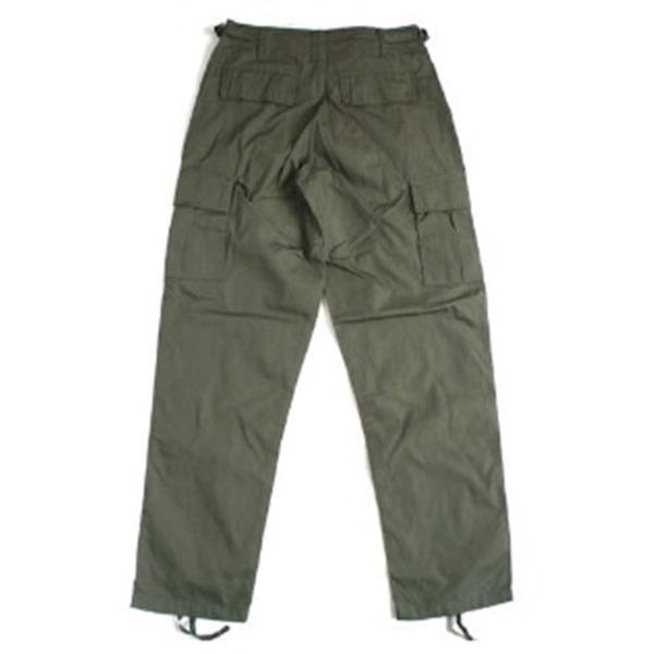 アメリカ軍 BDU カーゴパンツ /迷彩服パンツ  Lサイズ  リップストップ YN521007 オリーブ  レプリカ