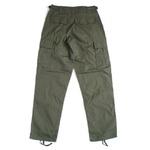 アメリカ軍 BDU カーゴパンツ /迷彩服パンツ 【 XSサイズ 】 リップストップ YN521007 オリーブ 【 レプリカ 】