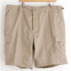アメリカ軍 BDU カーゴショートパンツ /迷彩服パンツ 【 Mサイズ 】 リップストップ カーキ 【 レプリカ 】