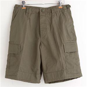 アメリカ軍 BDU カーゴショートパンツ /迷彩服パンツ 【 XLサイズ 】 リップストップ オリーブ 【 レプリカ 】