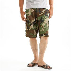 アメリカ軍 BDU カーゴショートパンツ /迷彩服パンツ 【 Sサイズ 】 ウッドランド 【 レプリカ 】