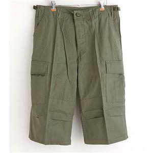 アメリカ軍 BDU クロップドカーゴパンツ /迷彩服パンツ 【 Lサイズ 】 リップストップ オリーブ 【 レプリカ 】