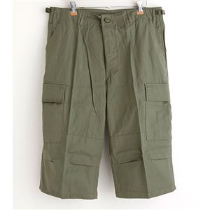 アメリカ軍BDUクロップドカーゴパンツ/迷彩服パンツ【XLサイズ】リップストップオリーブ【レプリカ】