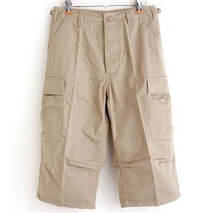 アメリカ軍 BDU クロップドカーゴパンツ /迷彩服パンツ 【 Lサイズ 】 リップストップ カーキ 【 レプリカ 】