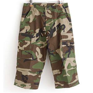 アメリカ軍 BDU クロップドカーゴパンツ /迷彩服パンツ 【 Mサイズ 】 リップストップ ウッドランド 【 レプリカ 】