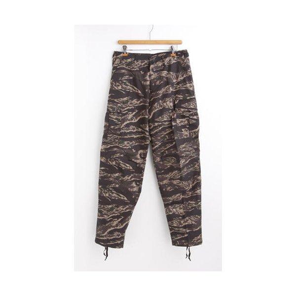アメリカ軍 BDU カーゴパンツ /迷彩服パンツ  Sサイズ  リップストップ YN521007 ブラック タイガー  レプリカ