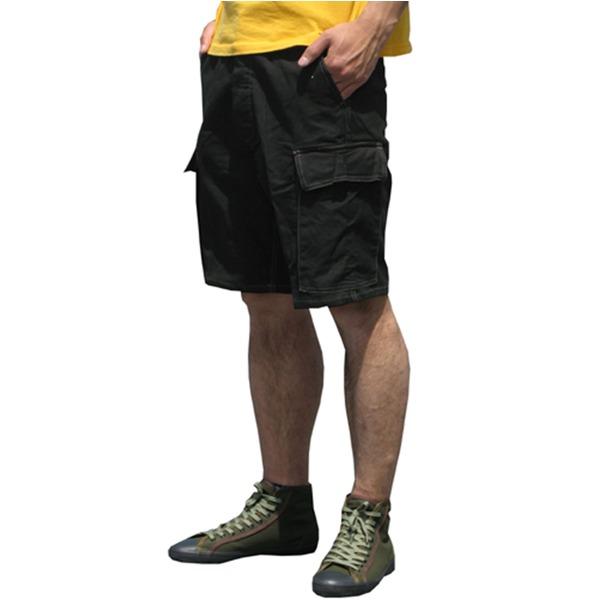 山岳猟兵用登山パンツ ドイツ連邦国軍 モルスキンショートパンツ 後染め ブラック Gr8(88cm)  レプリカ