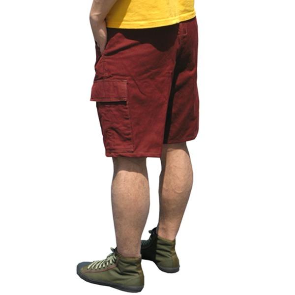 山岳猟兵用登山パンツ ドイツ連邦国軍 モルスキンショートパンツ 後染めエンジ Gr6(80cm)  レプリカ