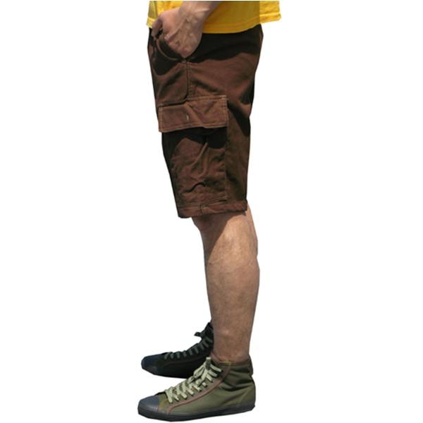 山岳猟兵用登山パンツ ドイツ連邦国軍 モルスキンショートパンツ 後染め ブラウン Gr8(88cm)  レプリカ