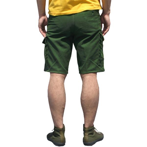 山岳猟兵用登山パンツ ドイツ連邦国軍 モルスキンショートパンツ 後染めモス グリーン Gr6(80cm)  レプリカ