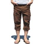 USタイプ「 M-65」フィールドパンツ 七部丈 ブラウン メンズ XLサイズ 【 レプリカ 】