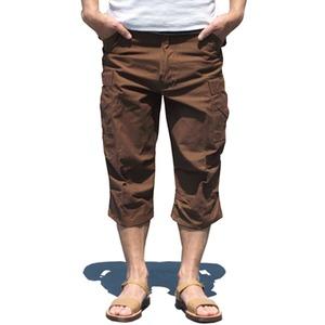 USタイプ「 M-65」フィールドパンツ 七部丈 ブラウン メンズ Lサイズ 【 レプリカ 】