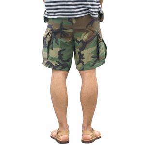 USタイプ「 M-65」フィールドショート丈パンツ ウッドランド メンズ XLサイズ 【 レプリカ 】