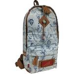 ワンショルダーバッグ/鞄 インディアン・モトサイクル社製 デニムプリント