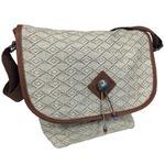 メッセンジャーバッグ/鞄 インディアン・モトサイクル社製 カブセ部分2段階調節可 ジュート柄