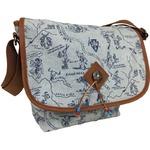 メッセンジャーバッグ/鞄 インディアン・モトサイクル社製 カブセ部分2段階調節可 デニムプリント柄