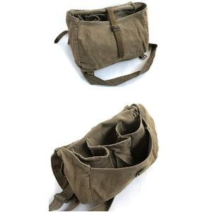 チェコ軍放出 ショルダー&ウェスト2WAYブ レッド綿キャンパスバッグ【中古】