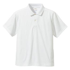 さらさらドライポロシャツ3枚セット【XXXXLサイズ】半袖UVカット/吸汗速乾4.1オンスホワイト/ブラック/コバルトブルー