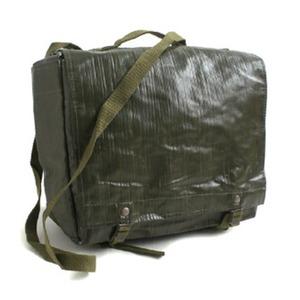 チェコ軍放出 防水布PVCコンバットショルダーバッグ未使用デットストック - 拡大画像