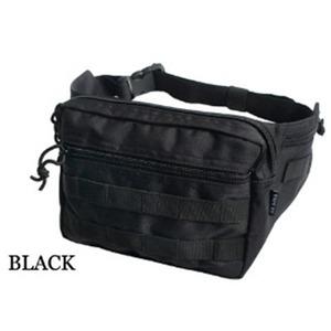 US軍 裏防水布使用ウェスト&ボディー2WAYバッグレプリカ ブラック - 拡大画像