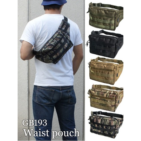 US軍 裏防水布使用ウェスト&ボディー2WAYバッグレプリカ ブラック