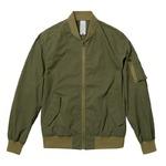 U.S.綿混ライトMA-1フライトジャケット オリーブ Lサイズ