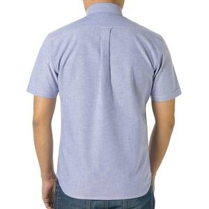 クールビズ対応オックスフォードボタンダウン半袖シャツ CB1068 O X ブルー Lサイズ