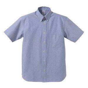 クールビズ対応オックスフォードボタンダウン半袖シャツ CB1068 O X ブルー Mサイズ