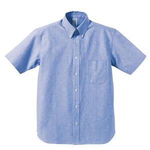クールビズ対応オックスフォードボタンダウン半袖シャツCB1068OXブルーSサイズ