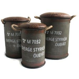 スウェーデン軍 ドラム缶チェアーレプリカ新品 L - 拡大画像