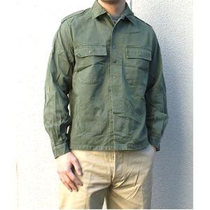 ベルギー軍放出 フィールドシャツスナップボタンタイプ 【中古】 L相当