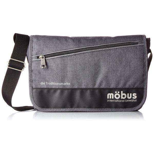 ドイツブランド Mobus(モーブス) メッセンジャーバッグ グレーf00