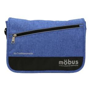 ドイツブランド Mobus(モーブス) メッセンジャーバッグ ブルー - 拡大画像