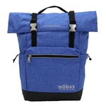 ドイツブランド Mobus(モーブス) 容量に応じて大きさ調整可能ロールトップリュック ブルー