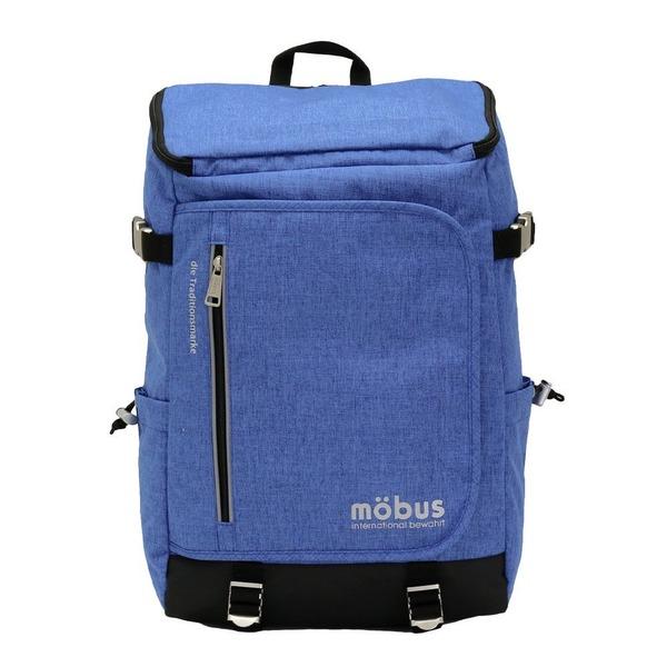 ドイツブランド Mobus(モーブス) トップオープンカンケンスクウェアーバッグ ブルーf00