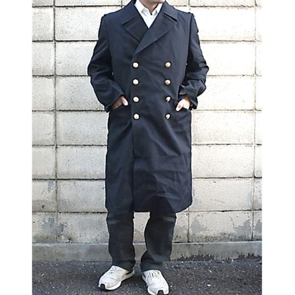 ドイツ連邦国海軍放出 ウールロングライナー付ピーコート ネイビー 中古 L相当