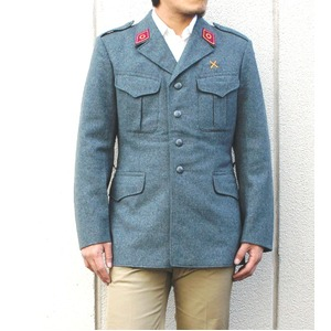 スイス軍放出 ウールジャケット グレー 【中古】 《 L相当》