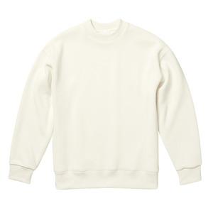 10.3オンス ニットフリース モックネックスウェットトレーナー バニラ ホワイト L h01