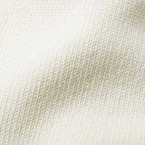 10.3オンス ニットフリース モックネックスウェットトレーナー バニラ ホワイト L h03