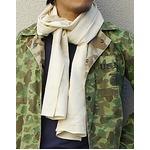 フランス軍放出 50' Sスカーフ オフ ホワイト未使用デットストック