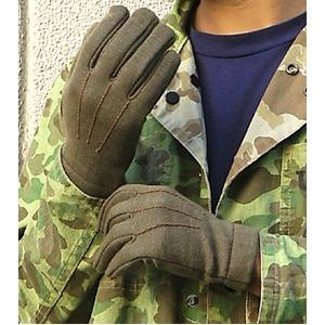 イタリア軍放出 A. M.Iウール裏起毛グローブオリーブ未使用デットストック 3( M)