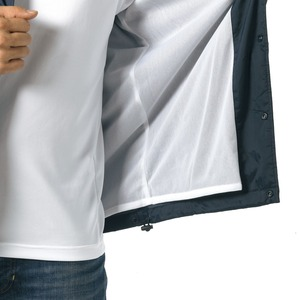 撥水防風加工裏地起毛付コーチジャケット ホワイト L
