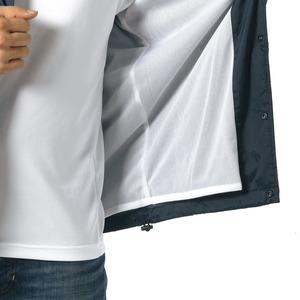 撥水防風加工裏地起毛付コーチジャケット ブルー L h02