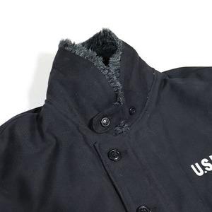 USタイプ 「N-1」 DECK ジャケット ブラック(裏ボアグレー)36(M)サイズ【レプリカ】