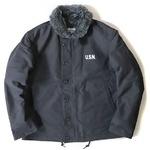USタイプ 「N-1」 DECK ジャケット ブラック(裏ボアグレー)38(L)サイズ【レプリカ】