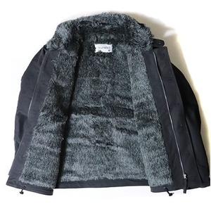 USタイプ 「N-1」 DECK ジャケット ブラック(裏ボアグレー)40(XL)サイズ【レプリカ】