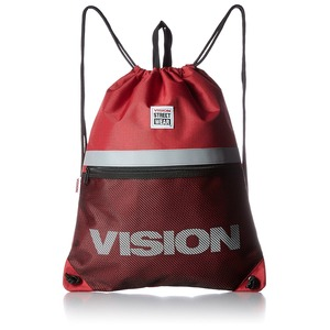 VISION(ビジョン)大型リフレクター付ナップザックレッド